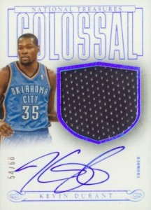 2013-14 Panini National Treasures Basketball Colossal Jerseys Signatures Durant