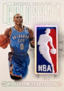 2013-14 Panini National Treasures Basketball Colossal Logoman Westbrook