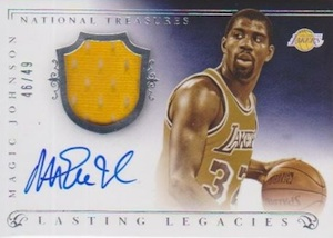 2013-14 Panini National Treasures Basketball Lasting Legacies Magic Johnson