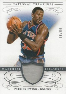 2013-14 Panini National Treasures Basketball Material Treasures Ewing