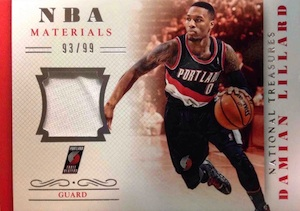 2013-14 Panini National Treasures Basketball NBA Materials Lillard