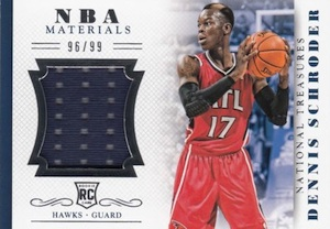 2013-14 Panini National Treasures Basketball NBA Rookie Materials