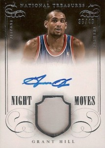2013-14 Panini National Treasures Basketball Night Moves Grant Hill