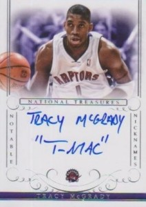2013-14 Panini National Treasures Basketball Notable Nicknames Tracy McGrady