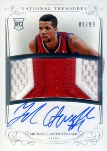 2013-14 Panini National Treasures Basketball Rookie Auto Patch Michael Carter-Williams