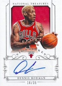 2013-14 Panini National Treasures Basketball Signatures Dennis Rodman