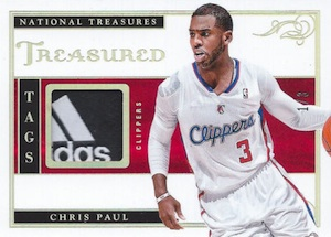 2013-14 Panini National Treasures Basketball Treasured Tags Chris Paul