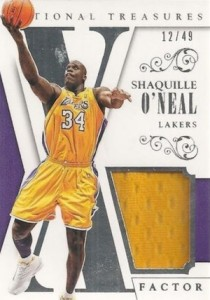 2013-14 Panini National Treasures Basketball X-Factor Shaquille O'Neal