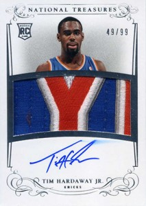 2013-14 Panini National Treasures RPA 113 Tim Hardaway Jr