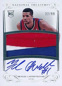 2013-14 Panini National Treasures RPA 119 Michael Carter-Williams