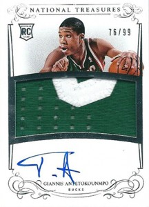 2013-14 Panini National Treasures RPA 130 Giannis Antetokounmpo