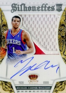2013-14 Panini Preferred Rookie Silhouettes Prime Michael Carter-Williams RC Autographs