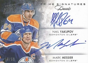 2013-14 Panini Prime Hockey Dual Signatures