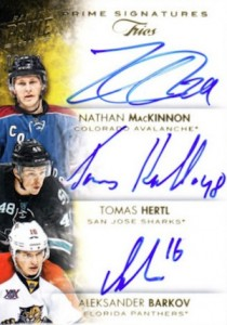 2013-14 Panini Prime Hockey Triple Signatures