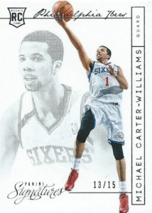2013-14 Panini Signatures Michael Carter-Williams RC