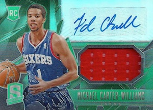 2013-14 Panini Spectra Michael Carter-Williams RC #121 Autographed Jersey