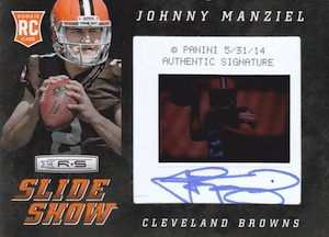 2014 Panini Rookies & Stars Football Rookie Premier Slideshow Signatures Johnny Manziel