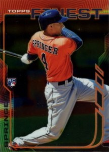 2014 Topps Finest Baseball Base George Springer RC