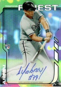 2014 Topps Finest Baseball Rookie Autographs Jose Abreu