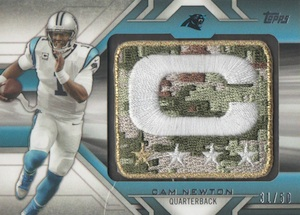 2014 Topps Football Captains Patch Camo Relics