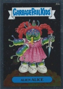 2014 Topps Garbage Pail Kids Chrome OS2 C Variations Alien Alice