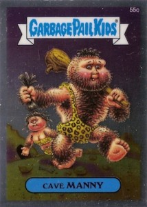 2014 Topps Garbage Pail Kids Chrome OS2 C Variations Cave Manny