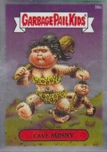 2014 Topps Garbage Pail Kids Chrome OS2 C Variations Cave Minny