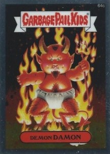 2014 Topps Garbage Pail Kids Chrome OS2 C Variations Demon Damon