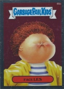 2014 Topps Garbage Pail Kids Chrome OS2 C Variations Face Les