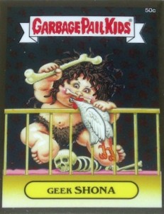 2014 Topps Garbage Pail Kids Chrome OS2 C Variations Geek Shona