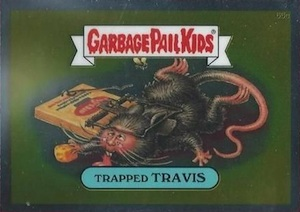 2014 Topps Garbage Pail Kids Chrome OS2 C Variations Trapped Travis