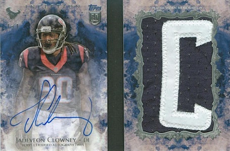 2014 Topps Inception Football Autograph Letter Books Jadeveon Clowney