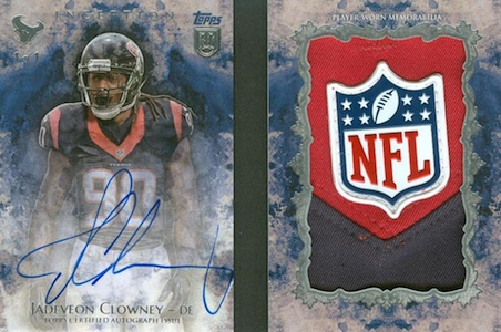 2014 Topps Inception Football Autograph NFL Shield Logo Patch Book Jadeveon Clowney