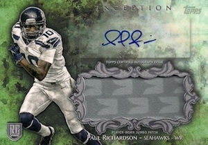 2014 Topps Inception Football Autographed Jumbo Patches