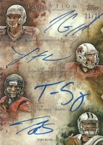 2014 Topps Inception Football Quad Rookie Autographs