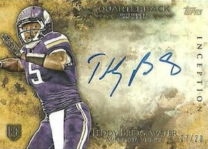 2014 Topps Inception Football Quarterback Autographs Teddy Bridgewater