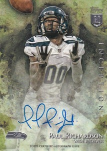 2014 Topps Inception Football Rookie Autographs Gallery, Guide 25