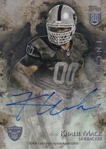 2014 Topps Inception Football Rookie Autographs Gallery, Guide 15