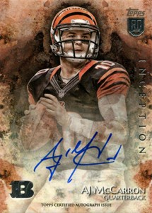 2014 Topps Inception Football Rookie Autographs Gallery, Guide 38