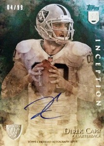 Derek Carr Rookie Card Gallery and Checklist 25