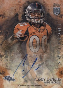 2014 Topps Inception Football Rookie Autographs Gallery, Guide 20