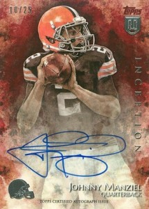 2014 Topps Inception Football Rookie Autographs Red Parallel Johnny Manziel