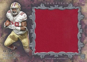 2014 Topps Inception Football Rookie Jumbo Relics Carlos Hyde