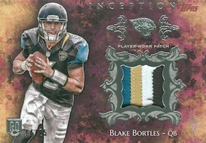 2014 Topps Inception Football Rookie Patches Blake Bortles