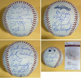 Baltimore Orioles Team Signed Balls