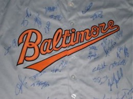 Baltimore Orioles Team Signed Jersey