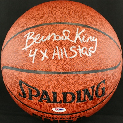Bernard King New York Knicks Signed Basketball