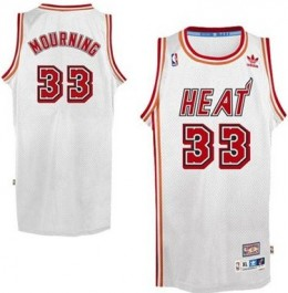 Miami Heat Alonzo Mourning Hardwood Classics Jersey