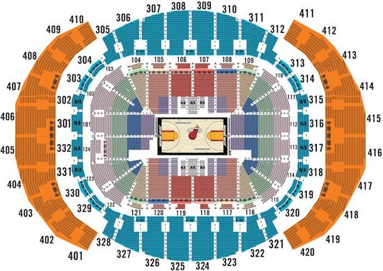 Miami Heat American Airlines Arena Seating Chart
