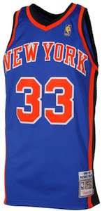 New York Knicks Throwback Vintage Jersey Patrick Ewing